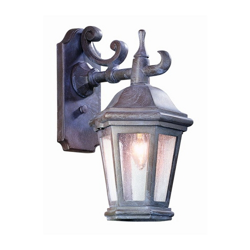Troy Lighting Outdoor Wall Light with Clear Glass in Matte Black Finish BCD6890MB