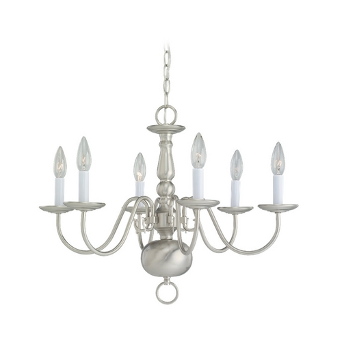 Sea Gull Lighting Chandelier in Brushed Nickel Finish 3411-962
