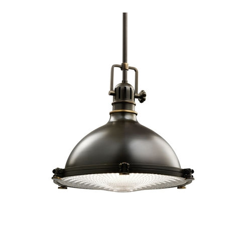 Kichler Lighting Kichler Nautical Bronze Pendant Light with Fresnel Lens 2666OZ