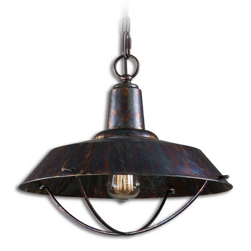 Uttermost Lighting Pendant Light in Oxidized Bronze Finish 21974