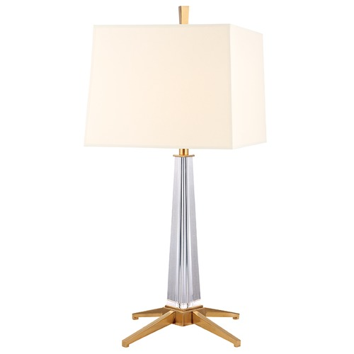 Hudson Valley Lighting Hindeman 1 Light Table Lamp Square Shade - Aged Brass L387-AGB-WS