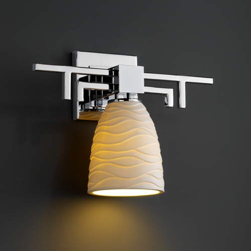 Justice Design Group Justice Design Group Limoges Collection Sconce POR-8701-18-WAVE-CROM