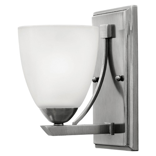 Hinkley Lighting Sconce with White Glass in Antique Nickel Finish 5250AN