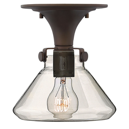 Hinkley Lighting Semi-Flushmount Light with Clear Glass in Oil Rubbed Bronze Finish 3146OZ