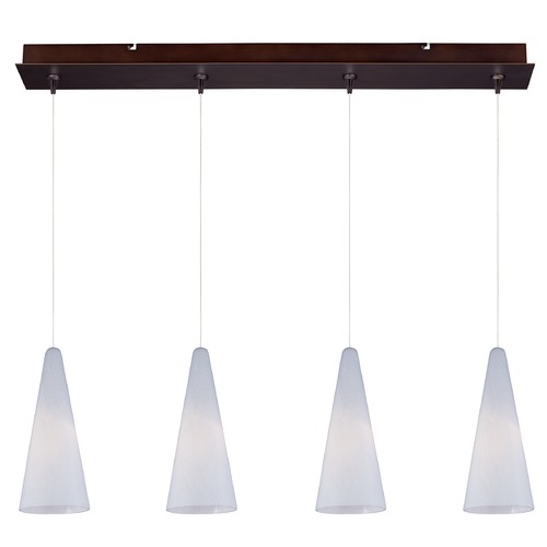 ET2 Lighting Minx Bronze Multi-Light Pendant with Conical Shade E94928-101BZ