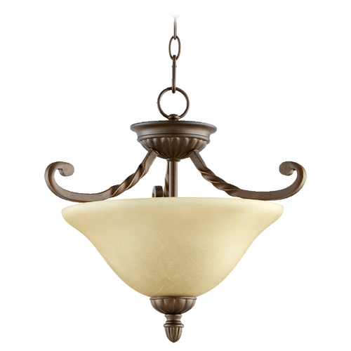 Quorum Lighting Quorum Lighting Tribeca Ii Oiled Bronze Pendant Light 2878-17186