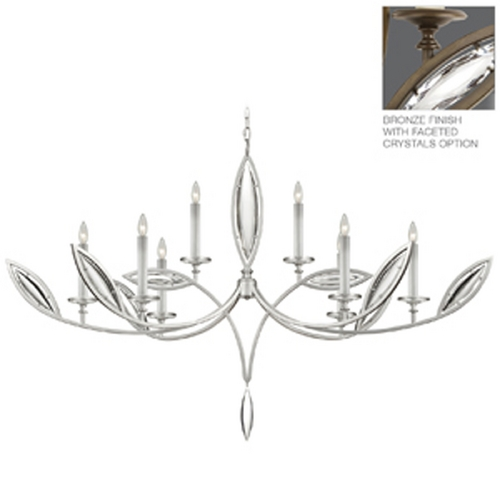 Fine Art Lamps Fine Art Lamps Marquise Antique Hand Rubbed Bronze Crystal Chandelier 843840-32ST