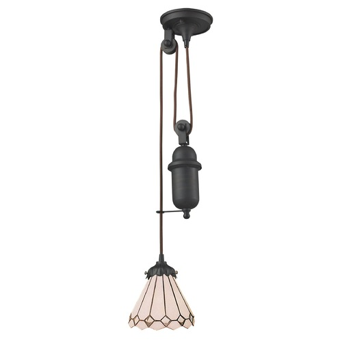 Elk Lighting Elk Lighting Tiffany Pulldown Tiffany Bronze Mini-Pendant Light with Empire Shade 081-TB-04