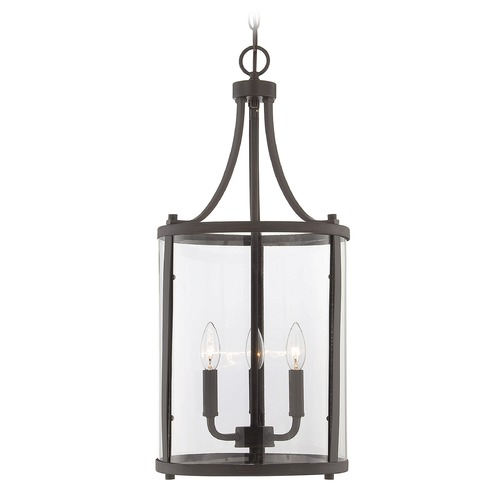 Savoy House Savoy House English Bronze Pendant Light with Cylindrical Shade 7-1040-3-13