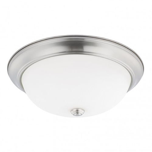 HomePlace by Capital Lighting HomePlace Lighting Ceiling Brushed Nickel Flushmount Light 214731BN
