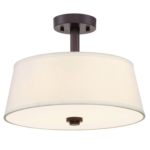 Designers Fountain Lighting Designers Fountain Studio Satin Bronze Semi-Flushmount Light 88511-SB