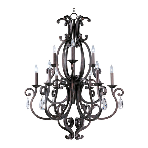 Maxim Lighting Maxim Lighting Richmond Colonial Umber Crystal Chandelier 31006CU/CRY083/SHD62