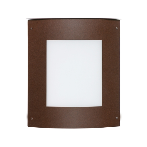 Besa Lighting Outdoor Wall Light with White Glass in Bronze Finish 107-842107-BR