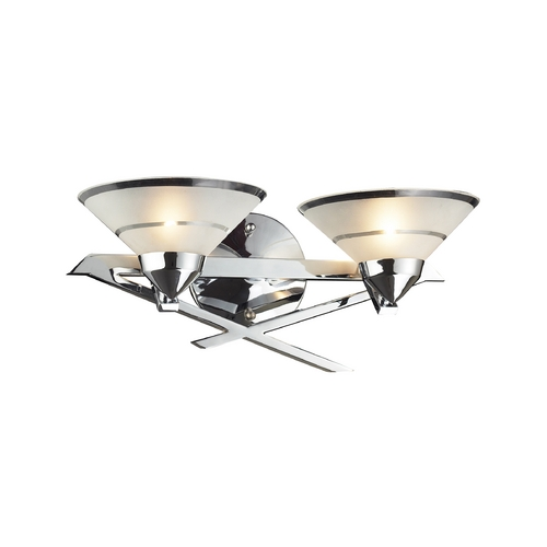 Elk Lighting Modern Bathroom Light Chrome Refraction by Elk Lighting 1471/2