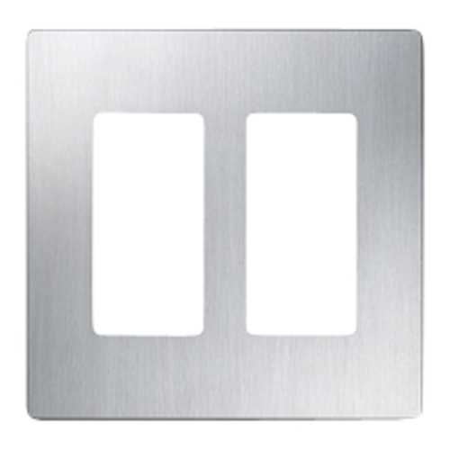 Lutron Dimmer Controls Screwless Two-Gang Wallplate CW-2-SS