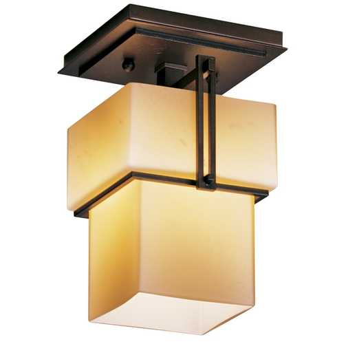 Hubbardton Forge Lighting Single-Light Semi-Flush Ceiling Light 123755-03-H102