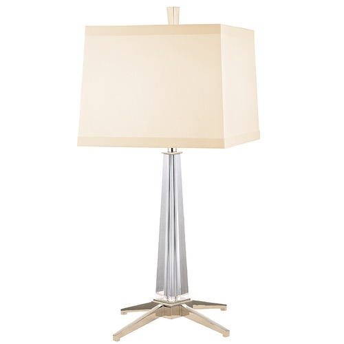 Hudson Valley Lighting Hindeman 1 Light Table Lamp Square Shade - Polished Nickel L387-PN