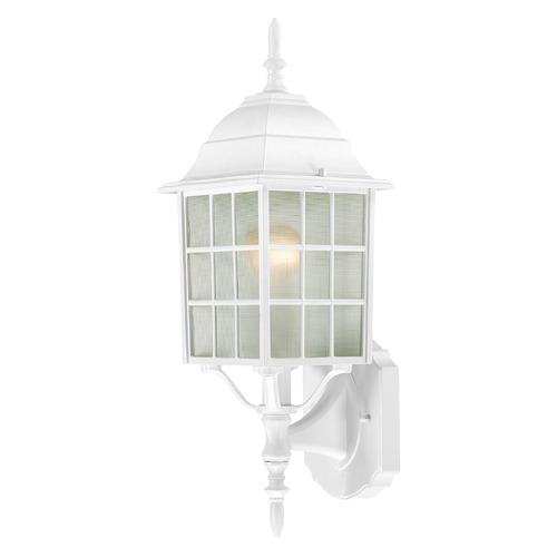 Nuvo Lighting Outdoor Wall Light with White Glass in White Finish 60/4901