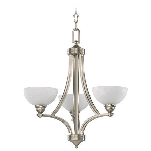 Quorum Lighting Quorum Lighting Hemisphere Satin Nickel Chandelier 620-3-65