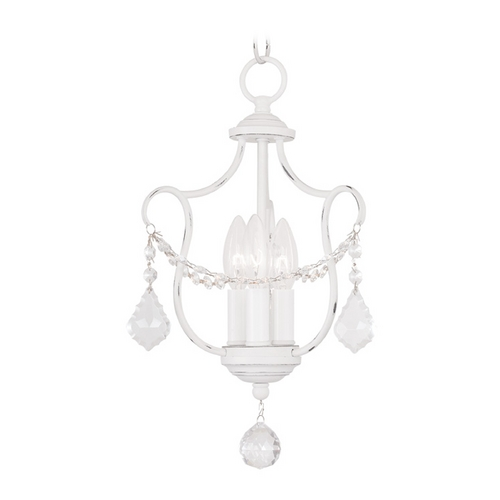 Livex Lighting Livex Lighting Chesterfield Antique White Pendant Light 6420-60