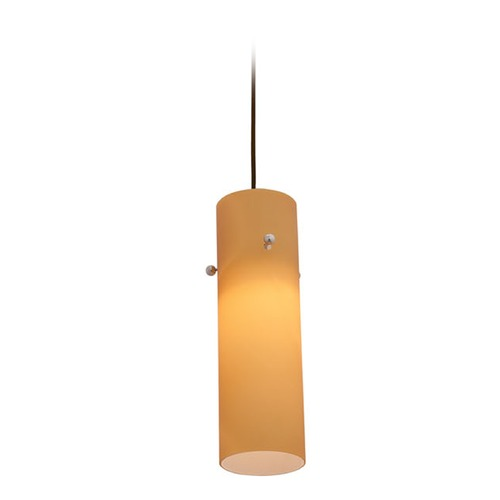 Access Lighting Access Lighting Delta Bronze Mini-Pendant Light with Cylindrical Shade 97932-BRZ/AMB