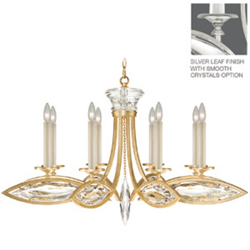 Fine Art Lamps Fine Art Lamps Marquise Platinized Silver Leaf Crystal Chandelier 843940-11ST