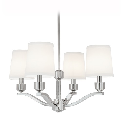 Norwell Lighting Norwell Lighting Roule Polished Nickel Chandelier 5614-PN-WS