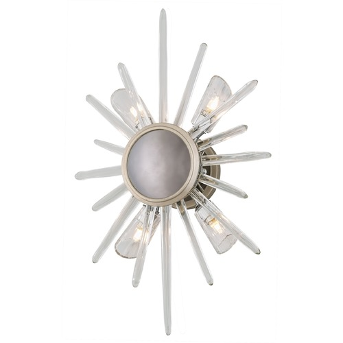 Corbett Lighting Corbett Lighting Chill Silver Leaf with Polished Stainless Accents Sconce 209-14