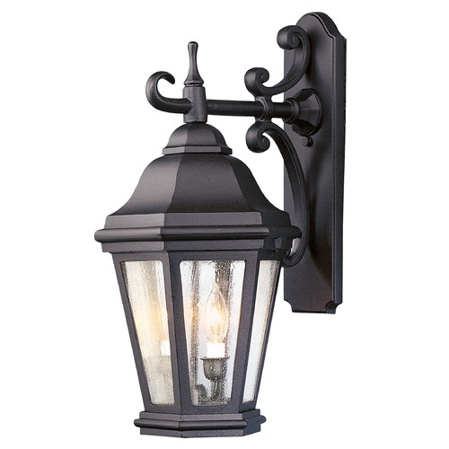 Troy Lighting Outdoor Wall Light with Clear Glass in Matte Black Finish BCD6891MB