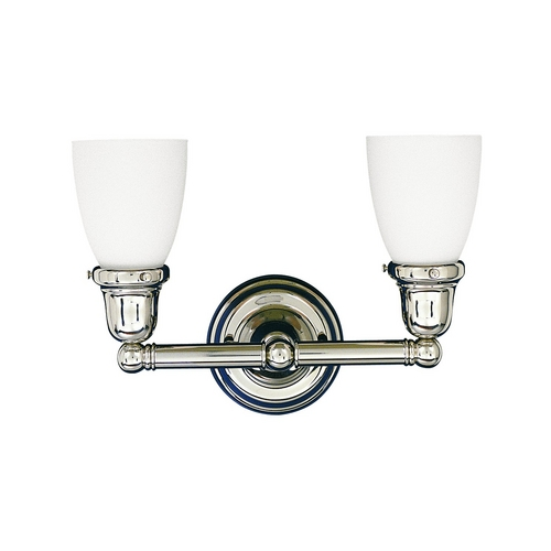 Hudson Valley Lighting Bathroom Light with White Glass in Polished Nickel Finish 862-PN-348M