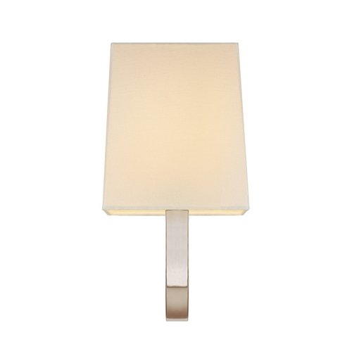 Sonneman Lighting Sconce Wall Light with White Shade in Polished Nickel Finish 1821.35