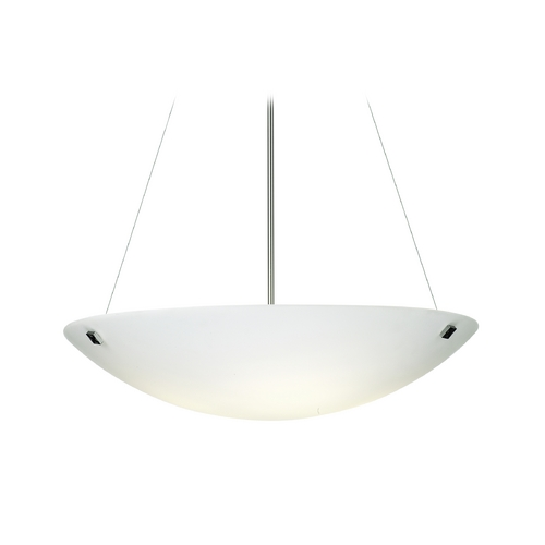 Philips Lighting Modern Pendant Light with White Glass in Satin Nickel Finish F53736U