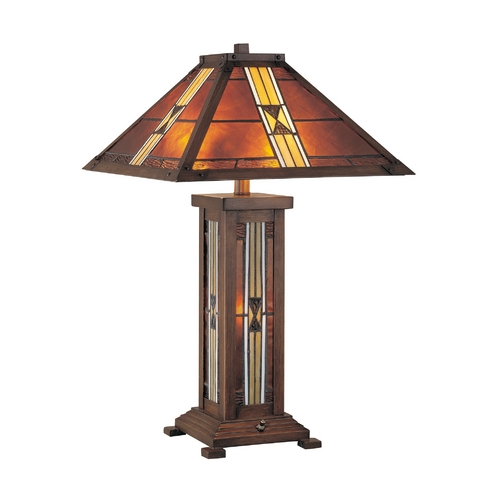 Lite Source Lighting Lite Source Lighting Farah Dark Bronze Table Lamp with Square Shade LS-20812