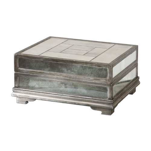 Uttermost Lighting Box in Antique Silver Finish 19545