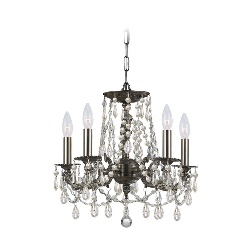 Crystorama Lighting Crystal Mini-Chandelier in Pewter Finish 5545-PW-CL-MWP