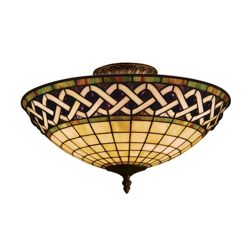 Elk Lighting Tiffany Semi-Flush Ceiling Light 937-CB