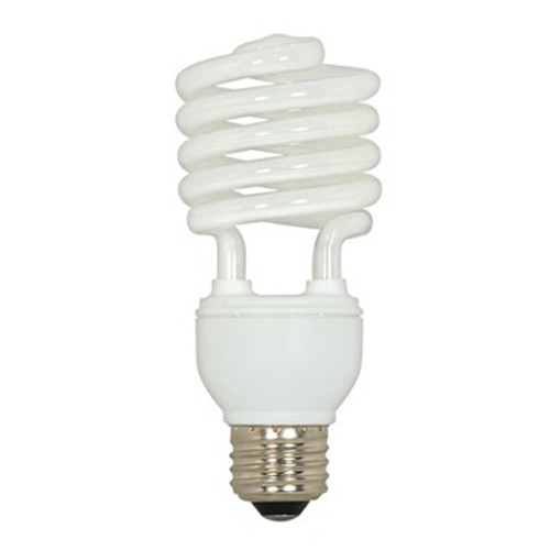 Satco Lighting 20-Watt Warm White Mini Compact Fluorescent Light Bulb S7234