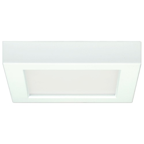 Design Classics Lighting 5-1/2-Inch White Square LED Flushmount Ceiling Light - 3000K 8327-30-WH