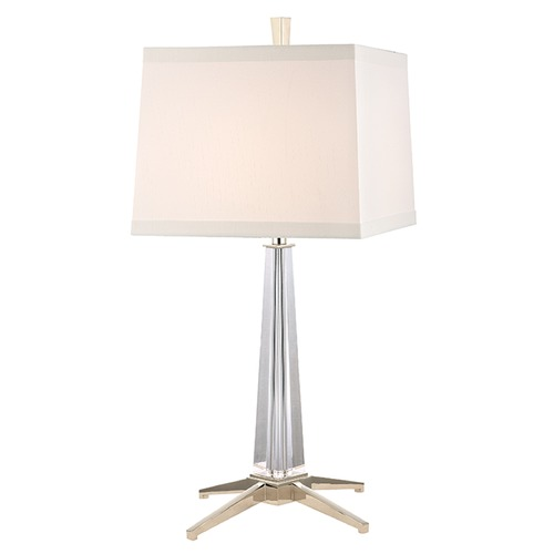 Hudson Valley Lighting Hindeman 1 Light Table Lamp Square Shade - Polished Nickel L387-PN-WS