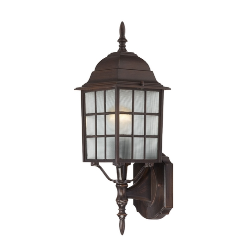 Nuvo Lighting Outdoor Wall Light with White Glass in Rustic Bronze Finish 60/4902