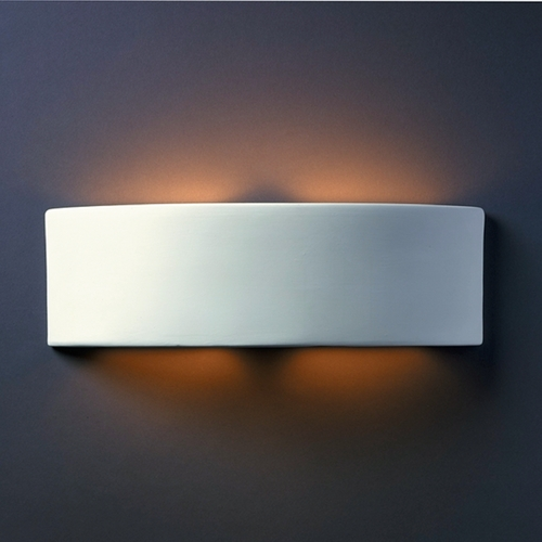 Justice Design Group Sconce Wall Light in Bisque Finish CER-5205-BIS