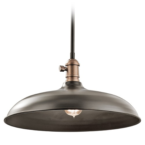 Kichler Lighting Kichler Lighting Cobson Pendant Light with Bowl / Dome Shade 42585OZ