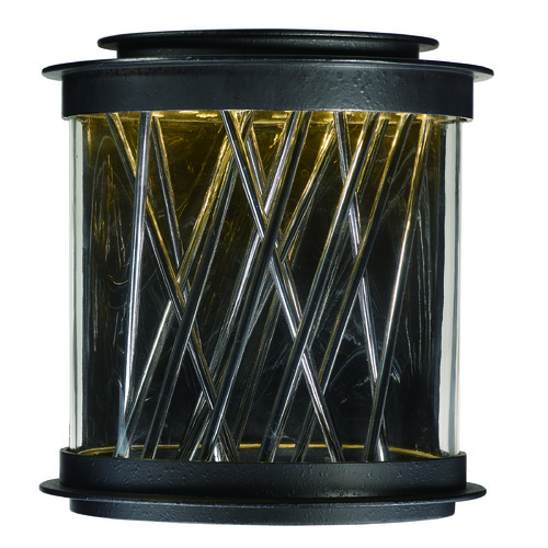 Maxim Lighting Maxim Lighting International Bedazzle Texture Ebony, Polished Chrome LED Outdoor Wall Light 53495CLTEPC