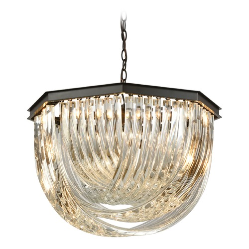 Elk Lighting Elk Lighting Optalique Oil Rubbed Bronze Pendant Light 45342/7