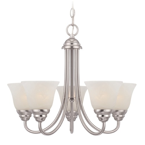 Designers Fountain Lighting Designers Fountain Kendall Satin Platinum Chandelier 85185-SP