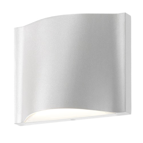 Sonneman Lighting Sonneman Drift Textured White LED Outdoor Wall Light 7239.98-WL