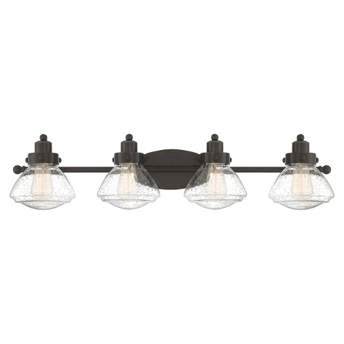Quoizel Lighting Quoizel Lighting Scholar Palladian Bronze 4-Light Bathroom Light with Clear Glass SCH8604PN