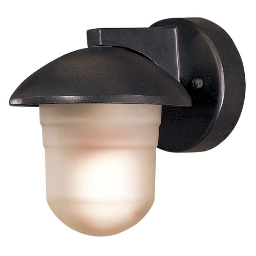 Minka Lavery Outdoor Wall Light with White Glass in Heritage Finish 71153-94-PL
