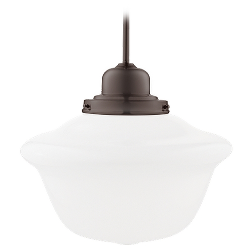 Hudson Valley Lighting Pendant Light with White Glass in Old Bronze Finish 19-OB-1615