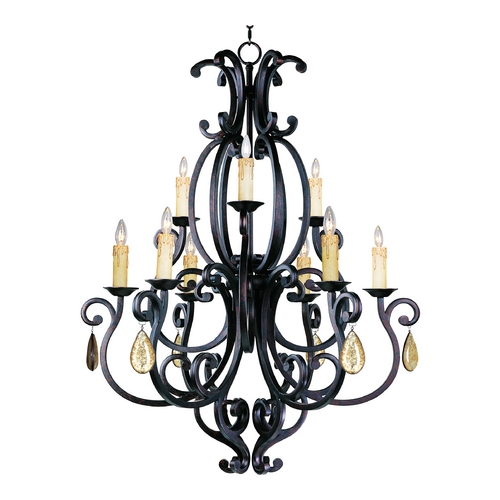 Maxim Lighting Maxim Lighting Richmond Colonial Umber Chandelier 31006CU/CRY094/SHD62